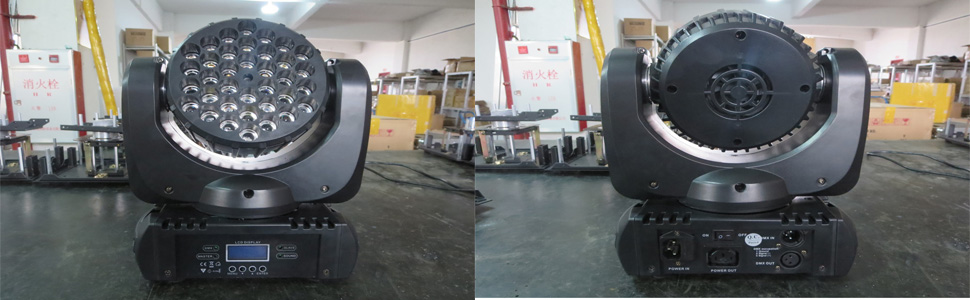 Front and back of the light
