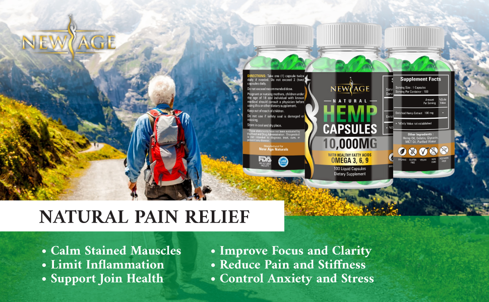 hemp oil extract capsules pain relief sleep natural pure