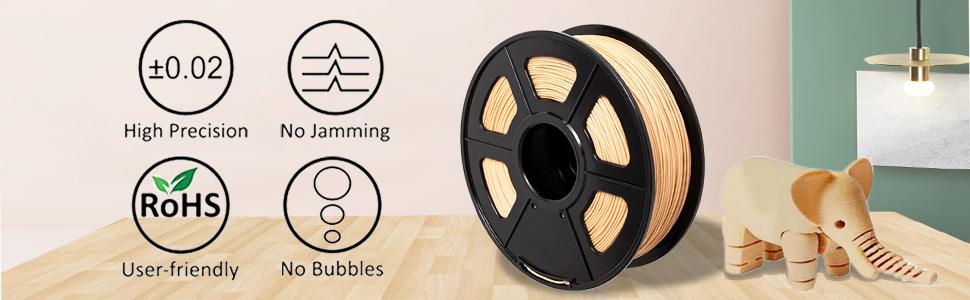 EKOHOME 1.75mm Filament 3D pour Imprimante 3D// Stylo dImpression 3D Emball/é Sous Vide RoHS Approuv/é et Non Toxique Soie /Éclat Argent PLA 3D Filament dImprimante Tol/érance +//- 0.02mm 1KG // 360m