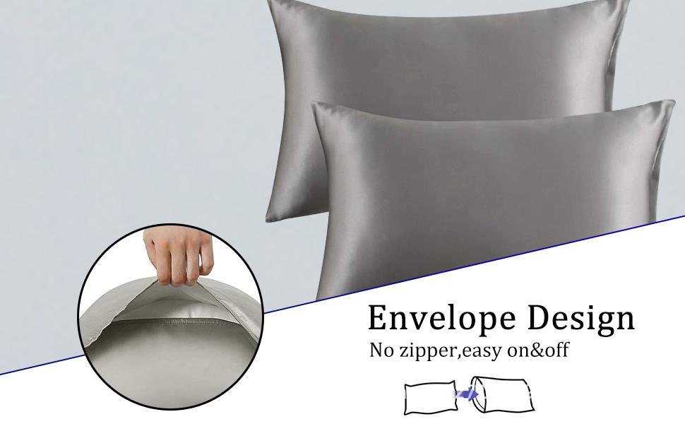 black pillowcases 2 pack