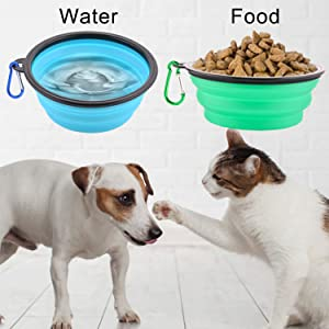 food bowl and water bowl