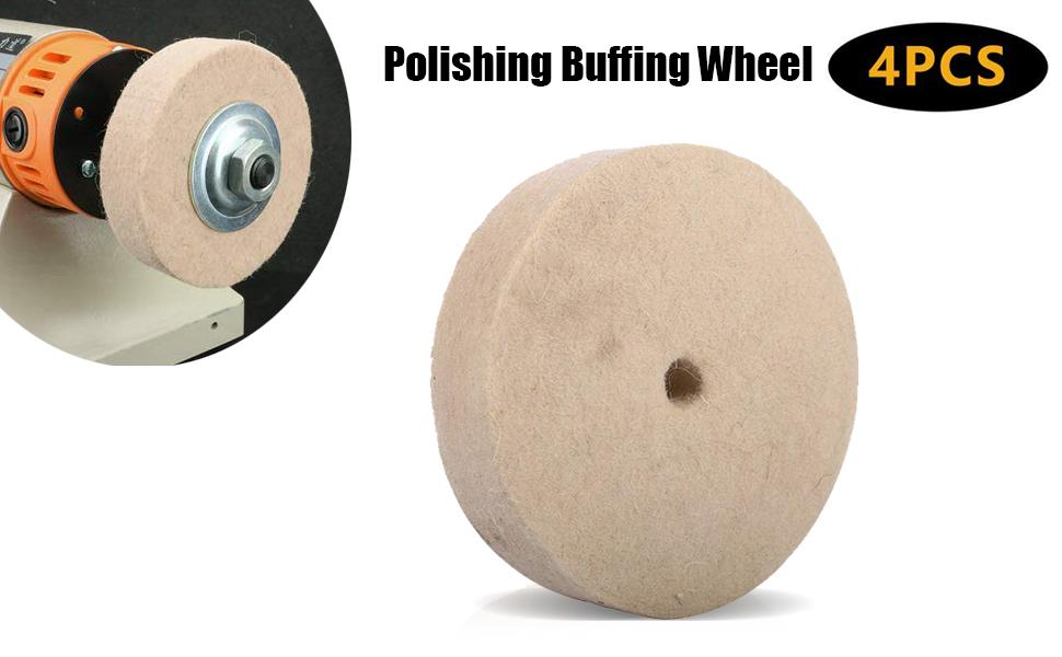 Metallbearbeitung Polieren Rad Beige Ersatz Polier Wolle Filz Zubehör