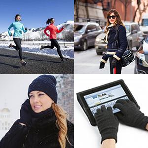 fleece lined knit gloves