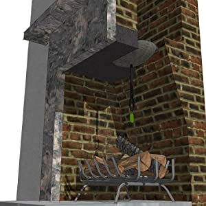 draft stopper for fireplace features