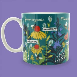 bee a friend coffee mug