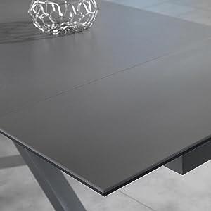 Tavolo Allungabile misura da 160cm dettaglio grigio grafite