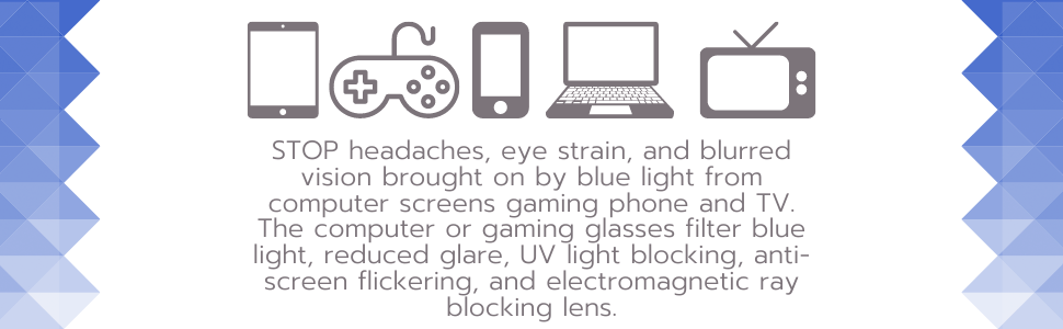 Computer and gaming blue light glasses women men Teens Clear blue light blocking blue light blocking