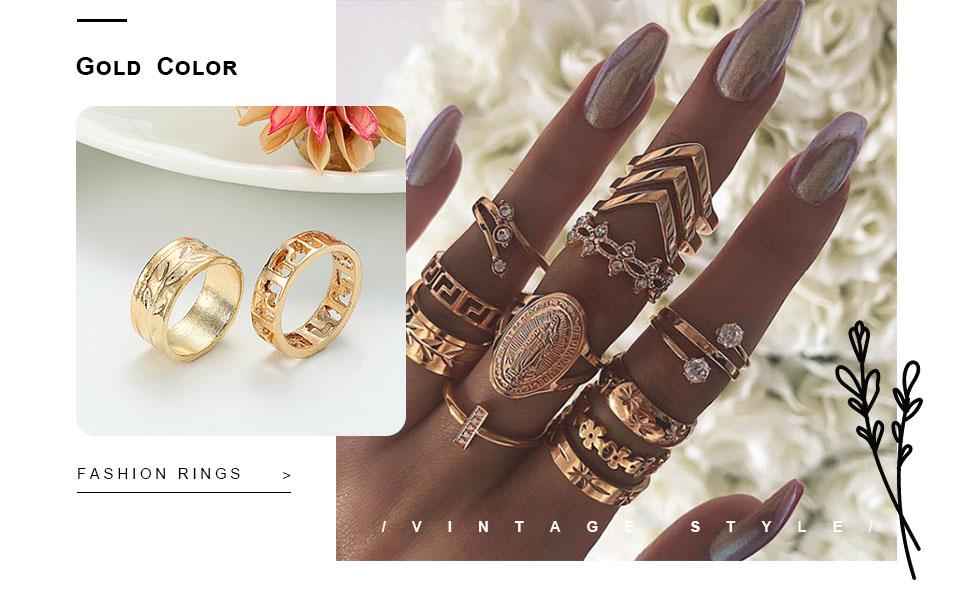 boho rings set for women vintage rings rings for women