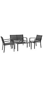 4 pieces patio furniture