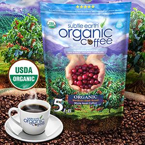 subtle earth organic coffee beans 5 pound bag