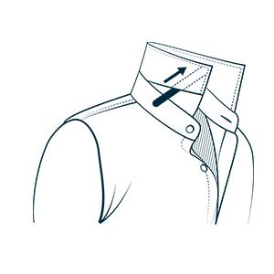 Collar Stay In Dress Shirt