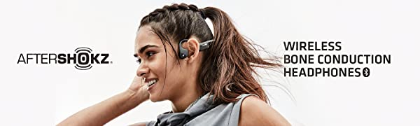 aftershokz wireless bone conduction headphones trekz air