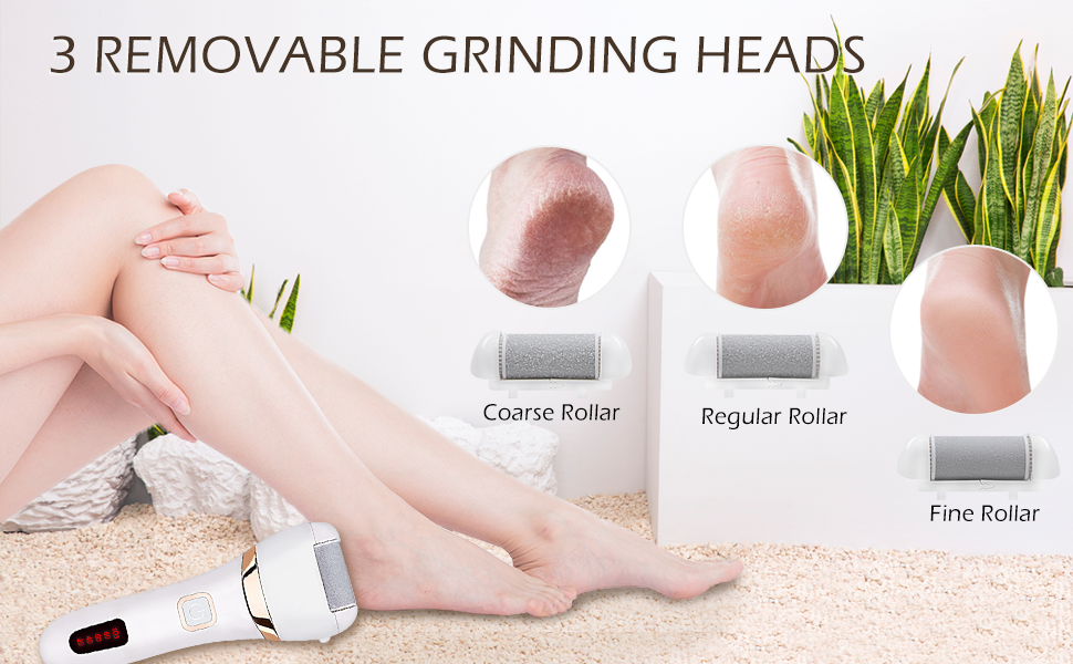 3 REMOVABLE GRINDING HEADS