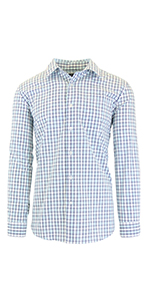 Galaxy by Harvic Mens Long Sleeve Solid Slim Fit Dress Shirts