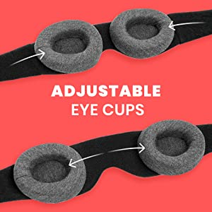 Adjustable eye cups that customize your mask for a fit so seamless you barely feel it on your face
