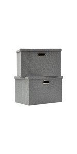 AlphaHome Storage Basket With Lid