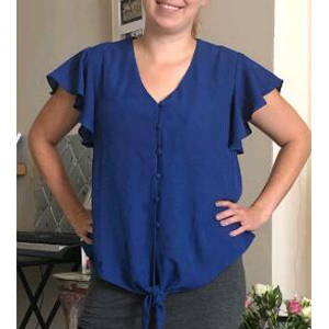 blue blouse shirt