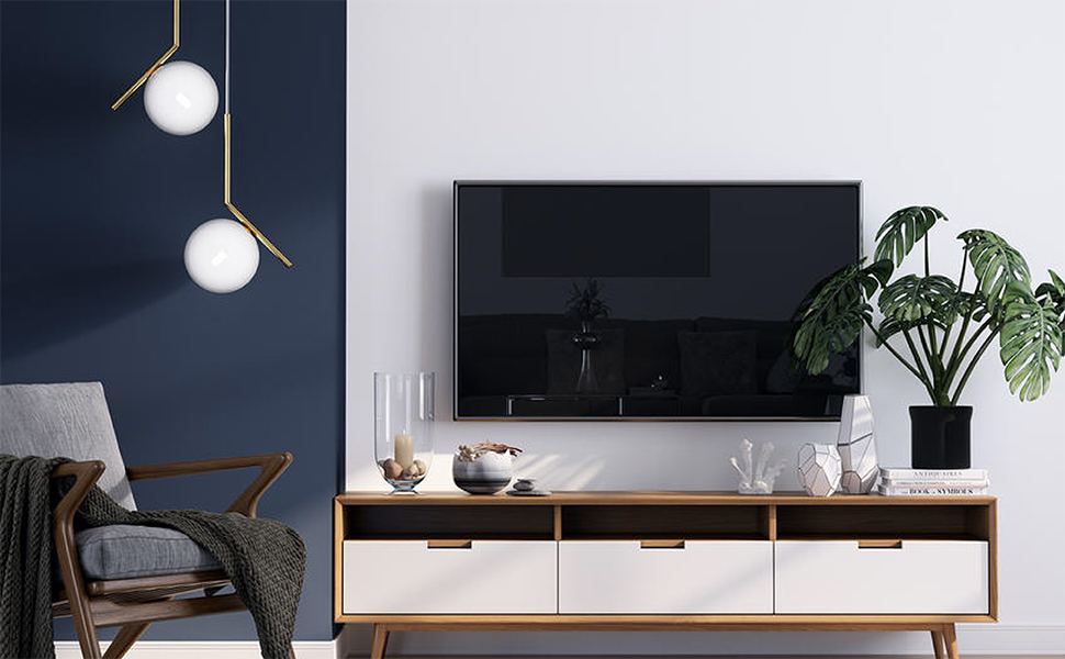 Charmount Ultra Slim Tv Wall Mount Bracket Premium Fixed Tv Mount Low Profile For Most 26 55 Inch 4k Led Lcd Oled Plasma Flat Panel Curved Screen Tvs Max Vesa 400x400mm 99lbs 16