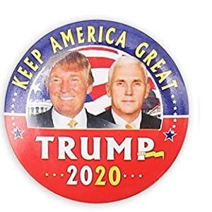 Trump button mike pence button 2020