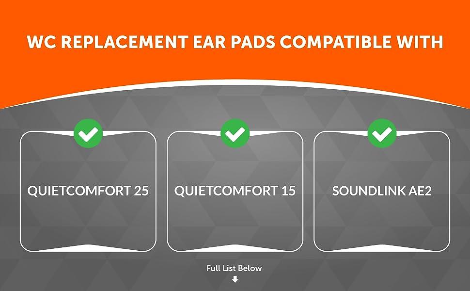 bose quietcomfort 25 ear pads