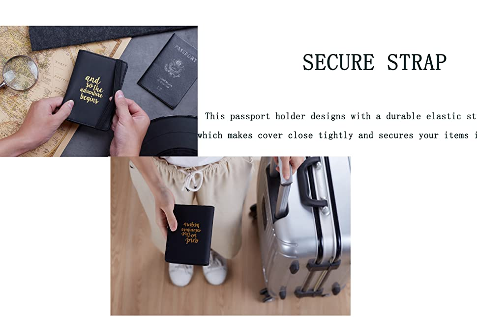 Shine Light Space Leather Passport Holder Cover Case Travel One Pocket