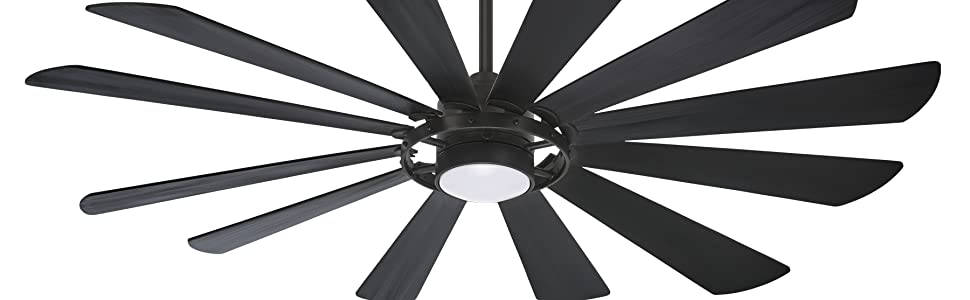 Textured Coal Minka-Aire 60 Inch Ceiling Fan Downrod DR560-TCL