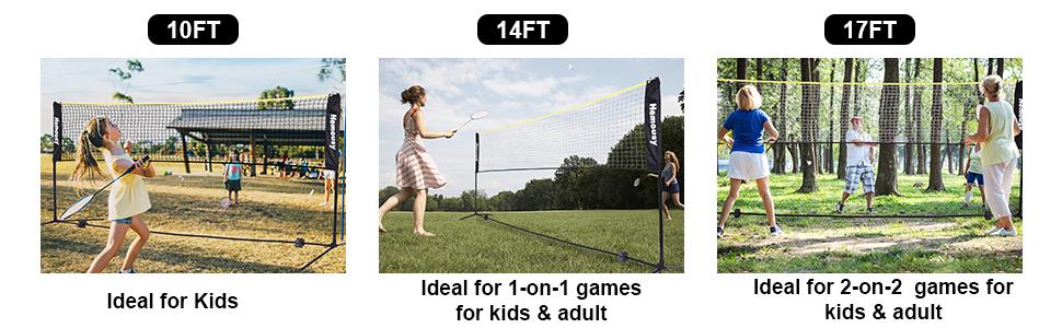 3 size badminton nets