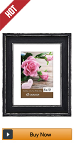 BOICHEN 8x10 black Rustic picture frames photo wood collage 2 pack wall farmhouse Distressed