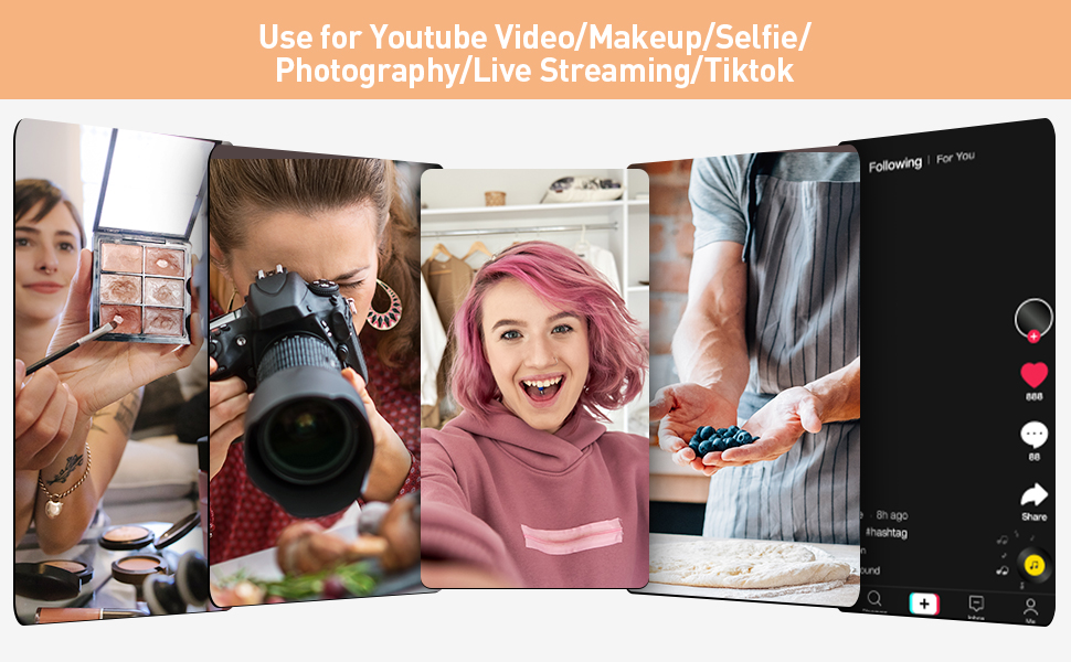 Tesoky Selfie Ring Light with Tripod Stand