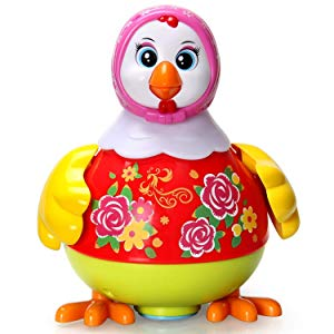 Toyshine Dancing Hen & Two Whistle Chicks Lights Music, Mulit-learning baby toy