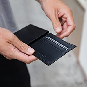 wallet for travel rfid mens wallet leather minimal wallet card wallet
