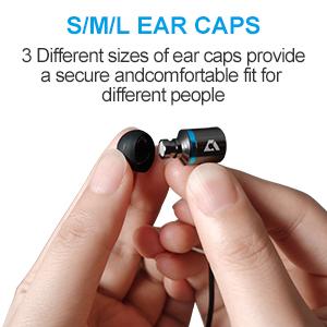 earphone with ear caps