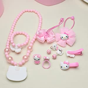 Pink Hello Kitty Cat necklace