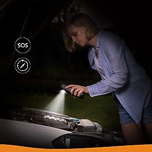 ジャンプスターター バッテリー上がり バッテリー 充電 車 緊急時 Anker powercore 安全 フラッシュライト モバイルバッテリー 緊急用 災害時
