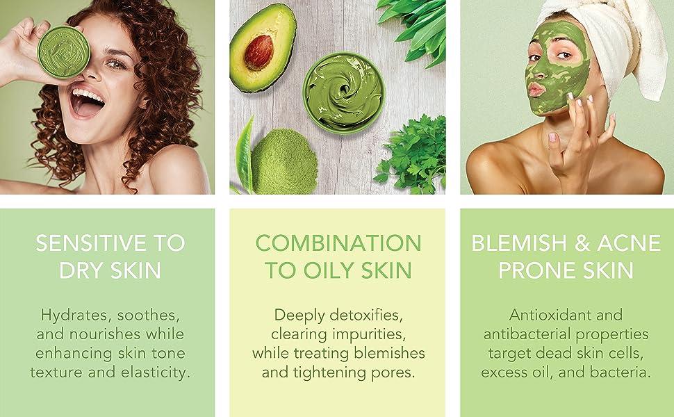matcha heaven green tea and avocado detox mask 2