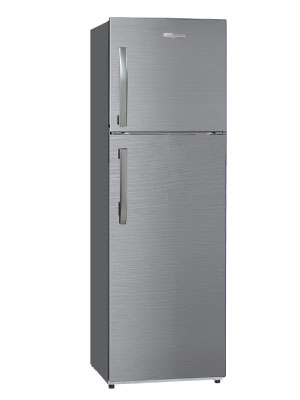 Super-General 360 Liter Refrigerator Top-Mount Fridge-Freezer silver child-lock freestanding