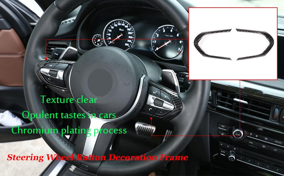 Karbonfaser Verkleidung Für M3 M4 M5 New 1 3 Series F20 F30 X5m F15 Auto Abs Chrom Lenkradknopf Rahmen Abdeckung Auto