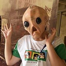 Latex Alien Mask Masquerade Costume Puntelli certainoly Halloween Alien Headwear