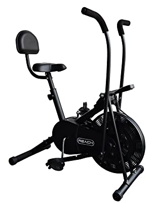 Reach Fitness bike with back support