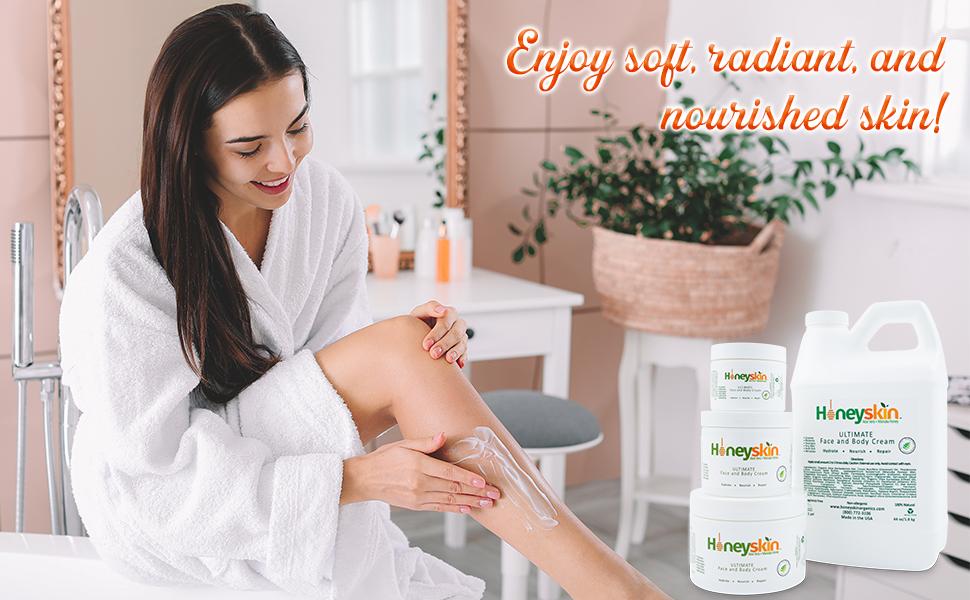 honeyskin ultimate face and body moisturizing cream