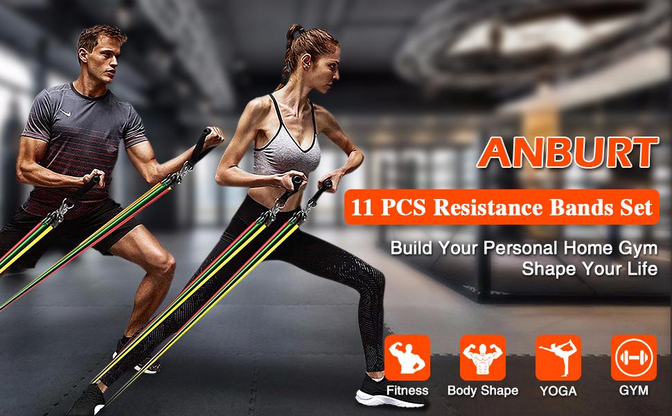11pcs resistance bands set