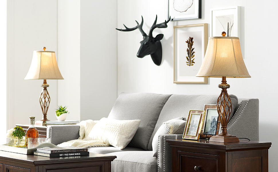 Table Lamp Set of 2 for Living Room