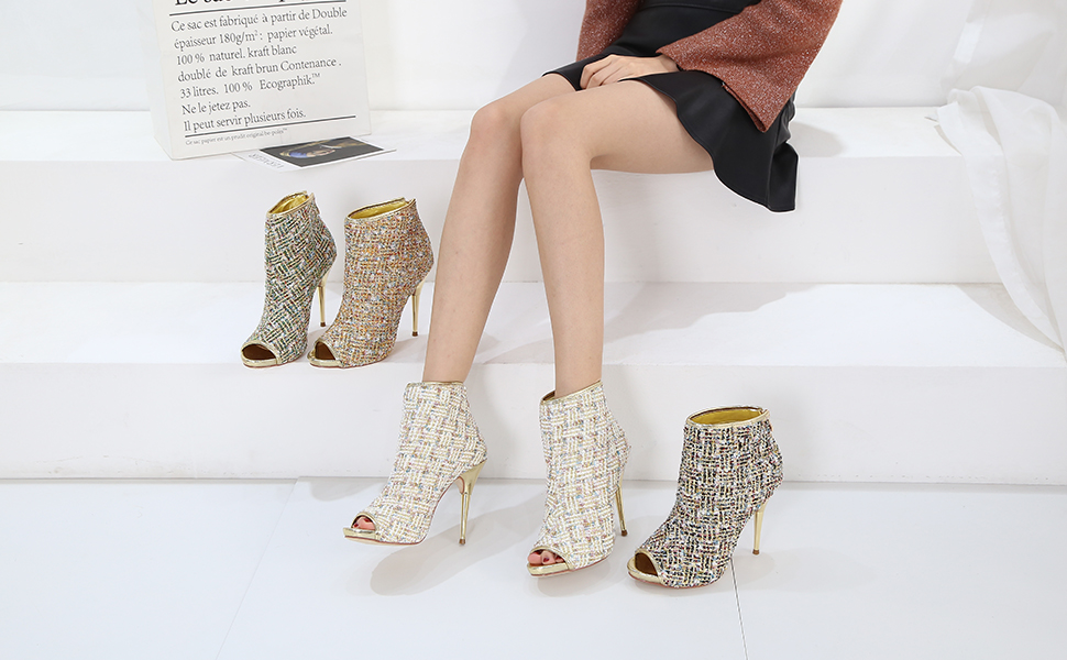 Details about  /Women Round Toe High Heel Stiletto Back Zip Pointy Toe Boots Synthetic Wen07