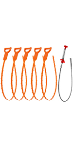 Vastar VCR1-ALX-1 Drain Snake Cleaning Tool 3 Pieces for sale online