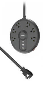 6 Outlets+3 USB