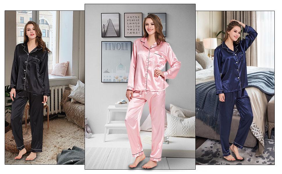 Satin Silk Pjs set for women