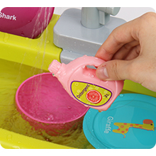 educational pretend play sink toys for kids 3-5