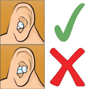 Correct fit of ear plug
