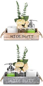 rustic candle Nice Butt Bathroom Decor Boxholder