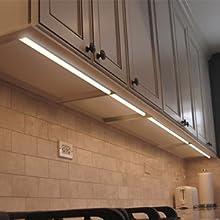 Lampade Barra Striscia a Tubos da Parete LED 9W Collegabili per  Sottopensile Cucina 573MM Lunghezza di Una Lampada con Interruttore Luce  Bianca ...
